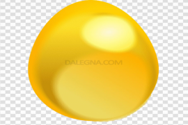 Plain Yellow Easter Egg PNG Clipart