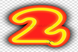 Neon Number PNG Image