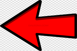 Red Left Arrow PNG Image