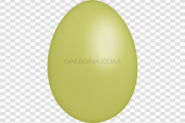 Plain Yellow Easter Egg PNG Pic