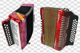 Red Accordion PNG Transparent