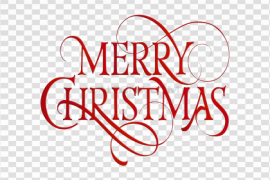 Merry Christmas Text Transparent Background
