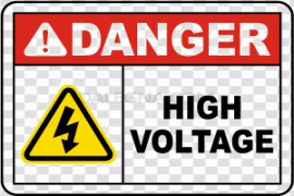 High Voltage Sign PNG HD