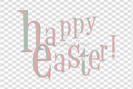 Happy Easter Logo Word PNG Image