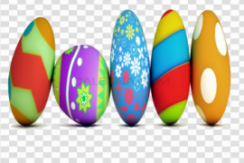 Colorful Easter Eggs Transparent PNG