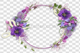 Purple Border Frame PNG Picture