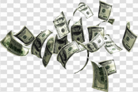 Falling Money Notes PNG HD