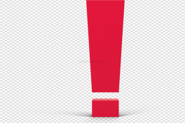 Red Exclamation Mark Transparent PNG