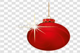 Hanging Christmas Ornaments PNG Transparent HD Photo