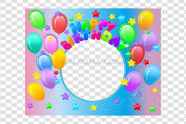 Happy Birthday Frame PNG Transparent Image