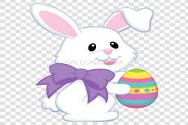Cute Easter Bunny PNG HD