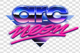 Synthwave PNG Clipart Background