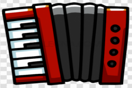 Red Accordion PNG Photo