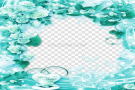 Teal Frame Clipart PNG Picture