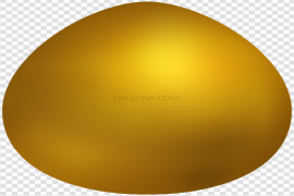 Plain Yellow Easter Egg PNG Transparent Image