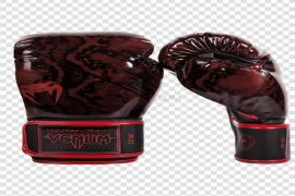 Red Venum Boxing Gloves PNG Clipart