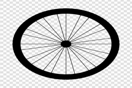 Bicycle Wheel Tire PNG File