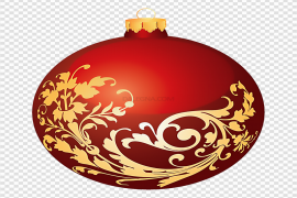 Red Christmas Ornaments Download PNG Image