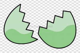 Cracked Easter Egg PNG Clipart
