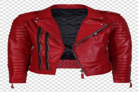Leather Red Jacket Transparent PNG