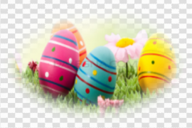 Colorful Easter Eggs PNG Picture