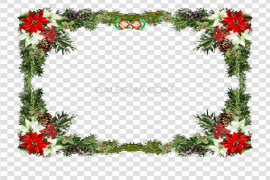 Square Christmas Frame PNG Clipart
