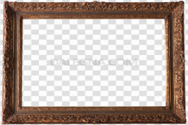 Empty Brown Frame PNG File