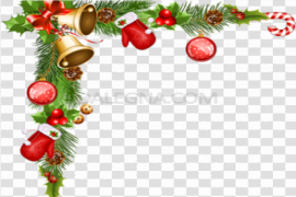 Christmas Ornaments Frame PNG Photo