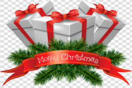 Red Christmas Gift PNG Photo