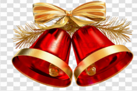 Real Christmas Bell PNG Photos
