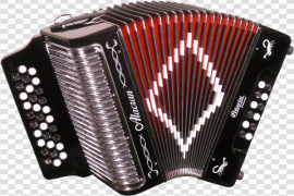 Red Accordion Transparent Background