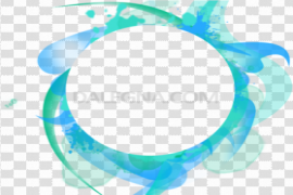 Abstract Frame Transparent Background