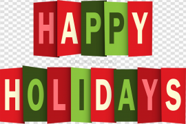 Happy Holidays PNG Clipart