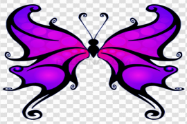 Purple Butterfly PNG Clipart