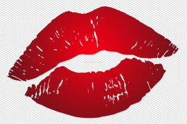 Red Kiss PNG Pic