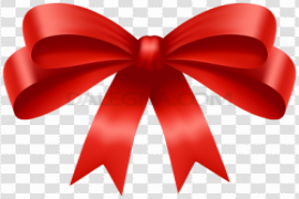Red Ribbon Bow Transparent PNG