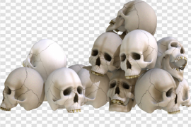 Pile of Skulls PNG Clipart