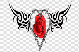 Gothic Rose PNG File