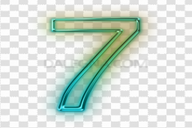 Neon Number Transparent Images PNG