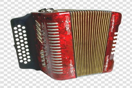 Red Accordion Background PNG