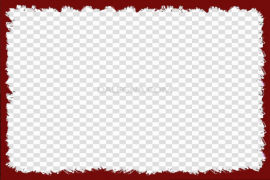 Red Christmas Frame PNG Picture