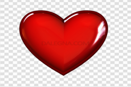 3D Red Heart PNG Transparent Image