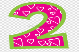 Cute Number PNG Background Image