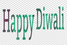 Happy Diwali Text Writing PNG Clipart Background