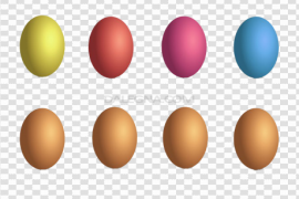 Plain Colorful Easter Egg PNG Clipart