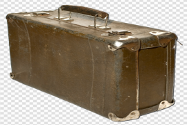 Old Suitcase With Transparent Background PNG