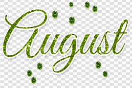 August PNG Photo