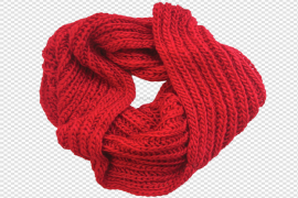Red Scarf PNG HD