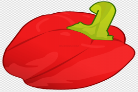 Bell Pepper Red Clipart PNG