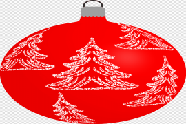Red Christmas Bauble Transparent Background